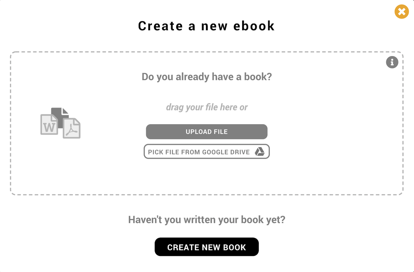 Create a new book